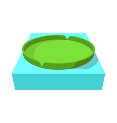 Huge floating lotus icon in cartoon style vector
