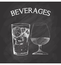 Graphic of sketch beverages vector