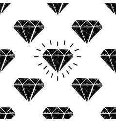 Handdrawn seamless pattern with diamonds vector image