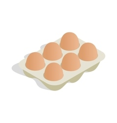 Packaging for eggs icon isometric 3d style vector