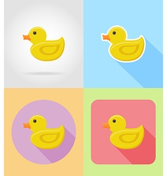 Baby flat icons 09 vector