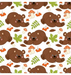 Bears Seamless Pattern vector image vector image