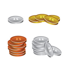 bitcoin crypto currency vector image vector image