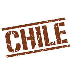 Chile brown square stamp vector