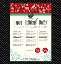 Christmas party festive restaurant menu design vector