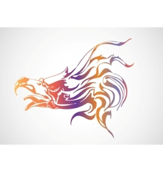 colorful eagle vector image