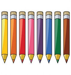 colorful pencils vector image vector image