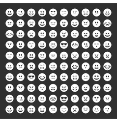 Emoticons icon pack vector image