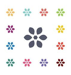 flower flat icons set vector image