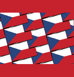 grunge czech republic flag or banner vector image vector image