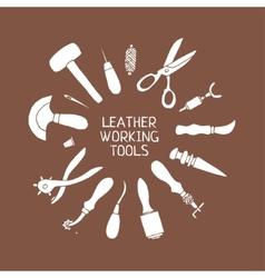Hand drawn Leather craft tools vector image vector image