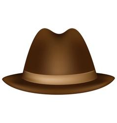 Headdress brown fedora vector