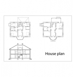 house plans vector image vector image