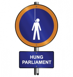 hung parliament vector image vector image