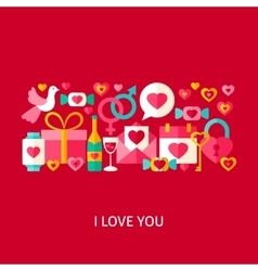 I Love You Greetings Concept vector image vector image