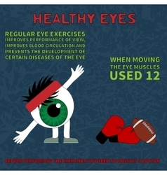 Info about the benefits of gymnastics for the eyes vector