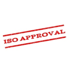 Iso approval watermark stamp vector