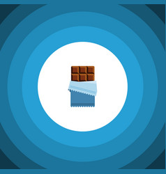 Isolated chocolate flat icon bitter vector