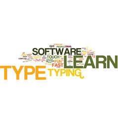 Learn to type just do it text background word vector