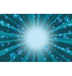 Night stars holiday blue pop art background vector image