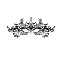 Ornate masquerade mask vector