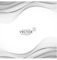 Smooth gray wave background vector