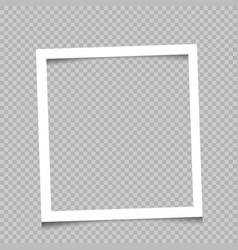 square frame transparent background vector image vector image