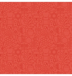 Thin holiday line jewish new year red seamless vector