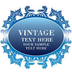 Vintage blue frame vector