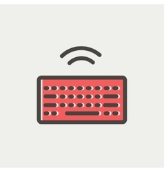 Wifi button in keyboard thin line icon vector image vector image