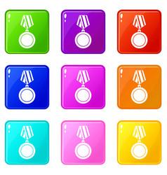 Winning medal set 9 vector