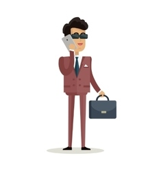 Businessman character in flat vector