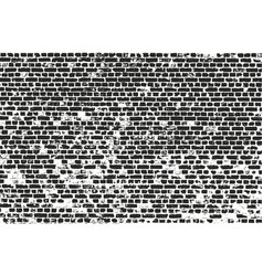 Distressed overlay texture of old brickwork vector