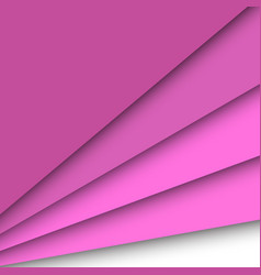 Pink paper overlapping abstract background vector