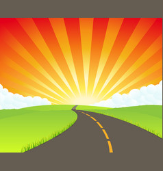 Road to paradise vector