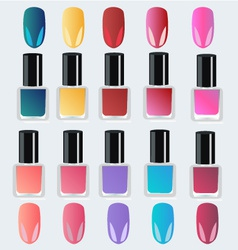 Nail polish on white background vector