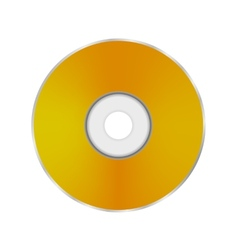 Gold compact disc vector