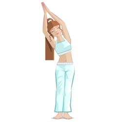 Half moon pose girl yoga bikram yoga vector