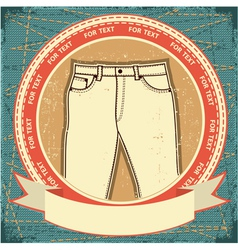 retro jeans label vector image