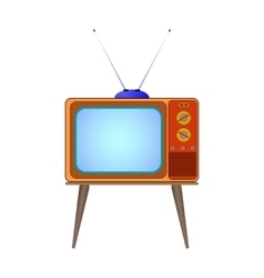 Cartoon old tv vector