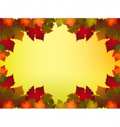autumn leaf border vector image