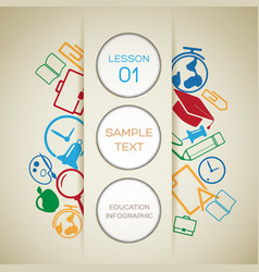 back to school infographic template vector image