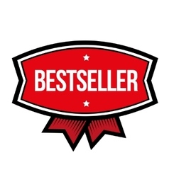 Bestseller vintage sign red vector image
