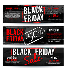 black friday sale horizontal advertising vector image vector image