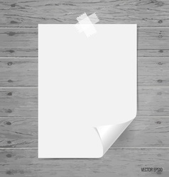 Blank white papers ready for your message vector image vector image