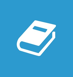 book icon white on the blue background vector image