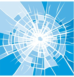 broken glass background of cracked glass vector image vector image