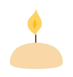 Candles isolated vector