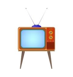 cartoon old TV vector image