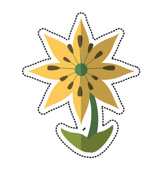 Cartoon plumeria flower decoration image vector